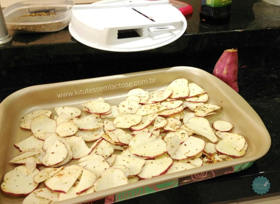 Chips de Batata Doce - Na Assadeira para ir ao forno