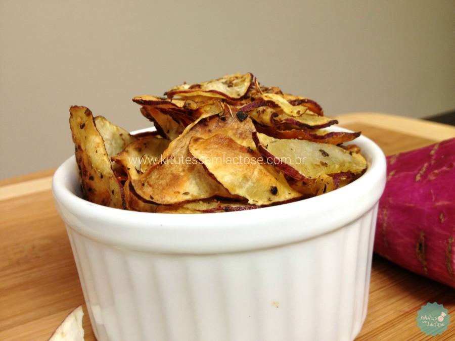 Chips de Batata Doce - Pronto para comer!